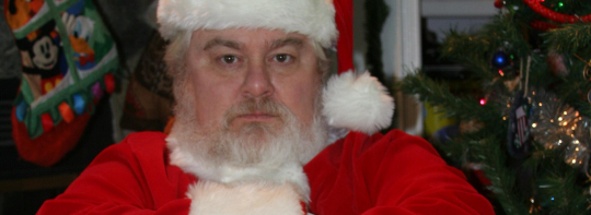 grumpy santa creating a christmas to remember without building up debt - A Christmas To Remember