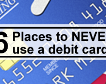 6 Places to never use debit feature image