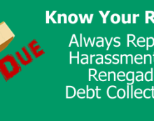 Debt Collector Harassment wordpress featured image